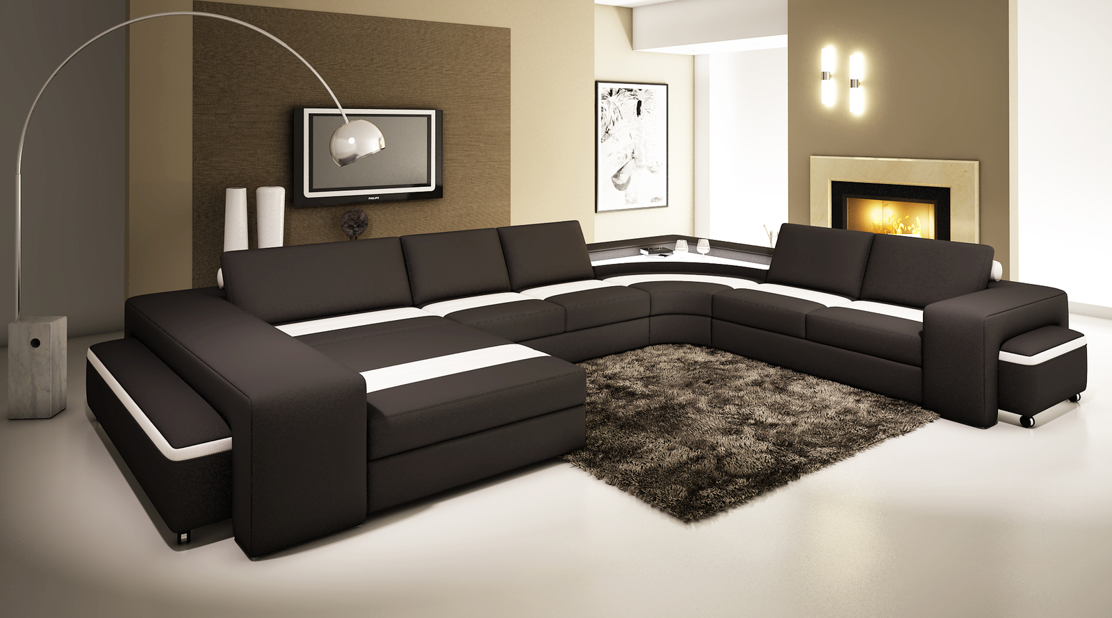 d corer son salon meuble et clairage led ruban. Black Bedroom Furniture Sets. Home Design Ideas